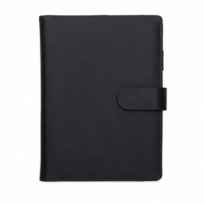 Caderno de anotações com power bank - A & T Brindes Promocionais