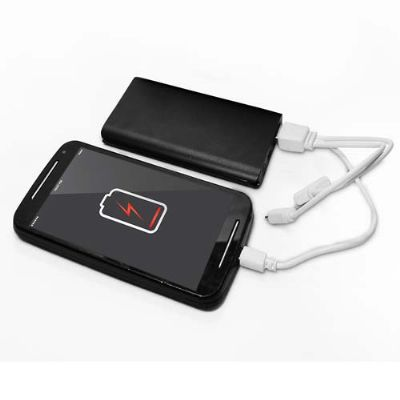 a-e-t-brindes-promocionais - Kit carregador portátil Power Bank Slim ultrafino