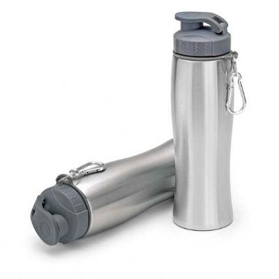 a-e-t-brindes - Squeeze de inox com mosquetão