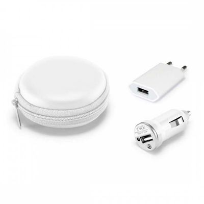 A & T Brindes - Kit carregador USB