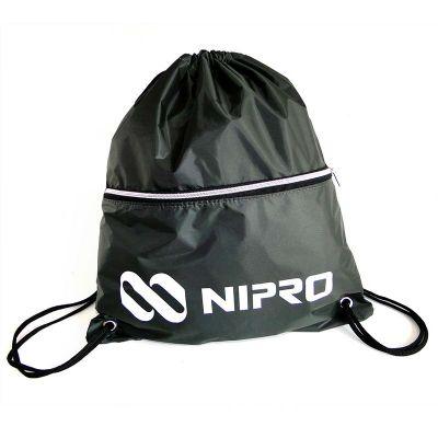 A & T Brindes Promocionais - Mochila saco em nylon emborrachado com bolso