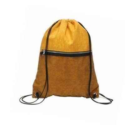 A & T Brindes - Mochila saco confeccionado em nylon 710 com zipper
