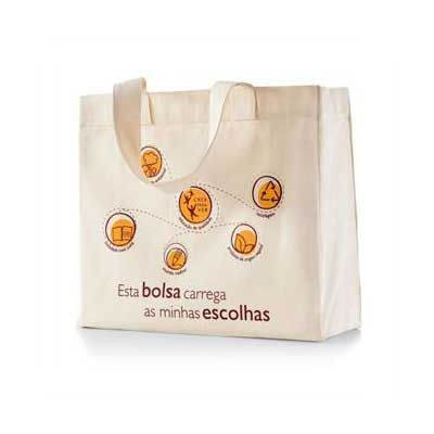 A & T Brindes - Eco Bags em algodão Cru