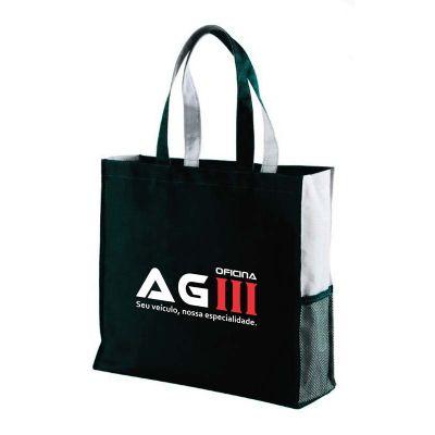 A & T Brindes Promocionais - Sacola em poliéster com tela