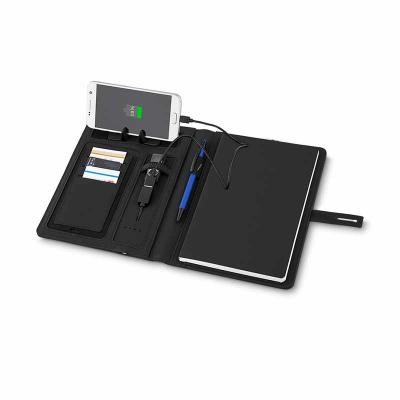 J.E Brindes - Caderno Power Bank