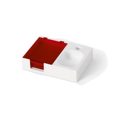 Base para mesa de escritório com bloco e caneta