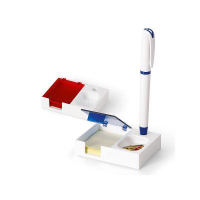 Base para mesa de escritório com bloco e caneta - GJ Brindes