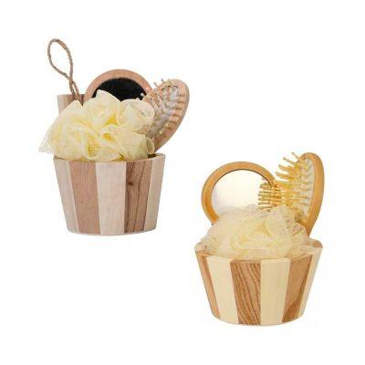 Kit banho ecológico cestinha com 3 peças