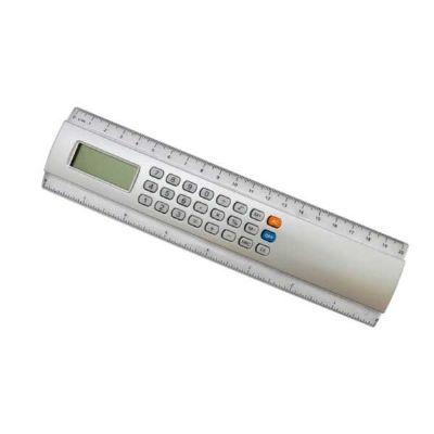 GJ Brindes - Régua 20 cm com calculadora