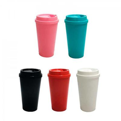 Copo Café Capacidade: 400ml ou 550ml Fabricado em polipropileno PP Produto em plástico não descartável Alta durabilidade Cores: Preto - Branco - Verme... - NewSilk