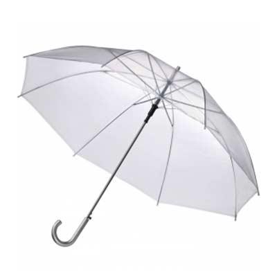 Guarda chuva transparente personalizado Importado Varão de metal Medida: Ø1,40m