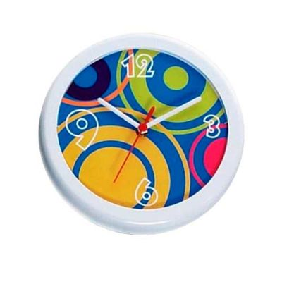 Aloha Brindes - Relógio plástico redondo