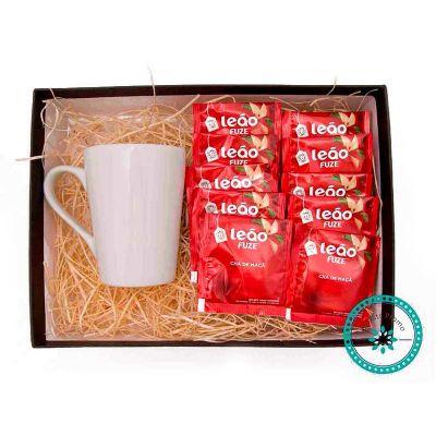 k3-brindes - Kit Chá embalado em caixa