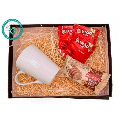 K3 Brindes - Kit Chá embalado em caixa de papel duplex