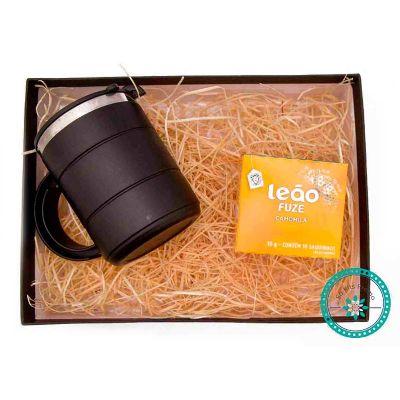 k3-brindes - Kit Chá embalado em caixa de papel duplex