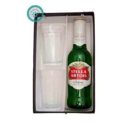K3 Brindes - Kit Cerveja com 2 copos americanos e 1 cerveja long neck