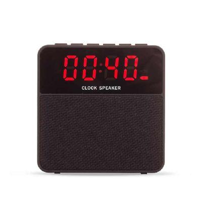 Caixa de som bluetooth multifunções com relógio digital - Spaceluz Brindes
