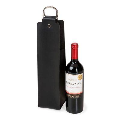 Porta Vinho em couro sintético - Spaceluz Brindes