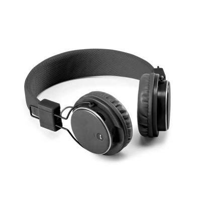 Spaceluz Brindes - Fone de ouvido dobrável. ABS. Ajustável. Com estrutura almofadada, transmissão por bluetooth e leitor de cartões TF. Autonomia até 4 h. Função para at...