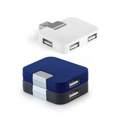 Spaceluz Brindes - Hub USB 2.0.  Com 4 portas.  Medidas: 52 x 41 x 12 mm