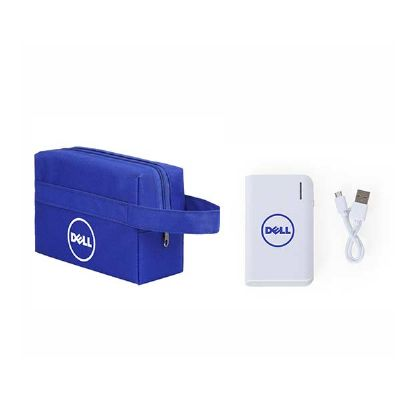 spaceluz-brindes - Kit Necessaire com Power Bank