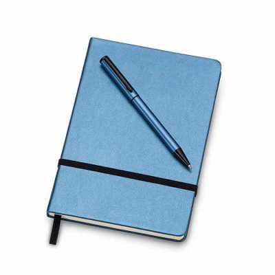 spaceluz-brindes - Kit executivo com caderneta e caneta em estojo