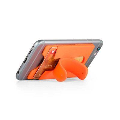 spaceluz-brindes - Porta cartão para smartphone Silicone promocional