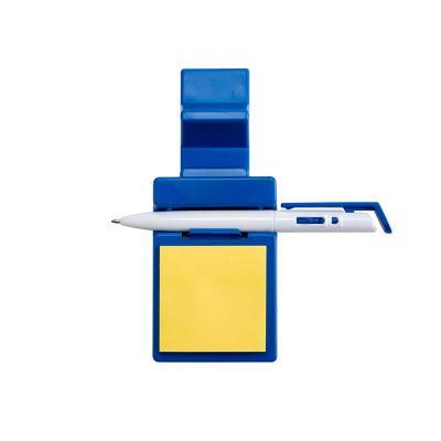 spaceluz-brindes - Suporte plástico para celular com caneta plástica e bloquinho de rascunho. Suporte colorido com encaixe para caneta e celular, acompanha bloquinho ama...
