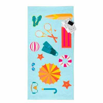 Toalha de praia personalizada em estampa sublimação - Spaceluz Brindes