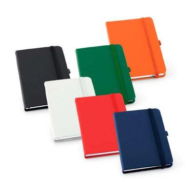 Caderneta capa dura couro sintético - Spaceluz Brindes