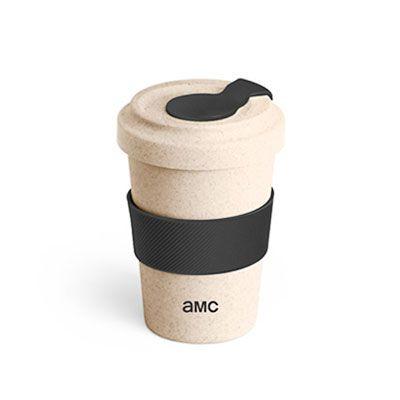 Spaceluz Brindes - Copo para viagem de Fibra de bambu e PP