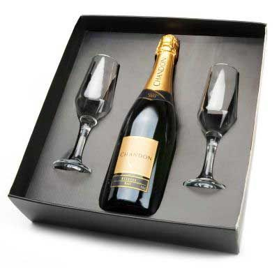 Kit chandon de 750ml. com 2 taças - Spaceluz Brindes
