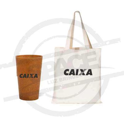 Kit Sacola com Copo Ecológico - Spaceluz Brindes
