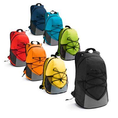 Mochila com bolsos laterais em tela e bolso interior - Spaceluz Brindes