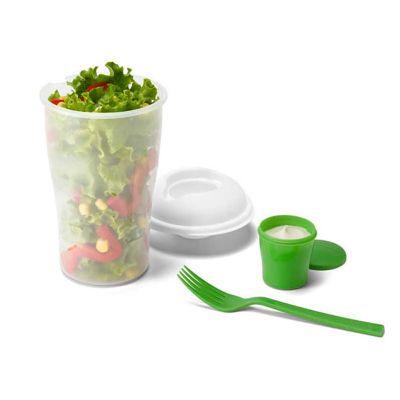 Iandê Brindes - Copo para salada pp 850ml, acompanha garfo e molheira - cop005