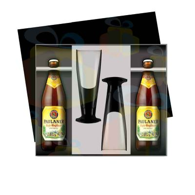 Iandê Brindes - Kit CERVEJA com 2 garrafas e 2 taças