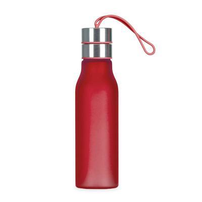 iande-brindes - Squeeze plástico personalizado Iandê 600ml com tampa em metal rosqueada