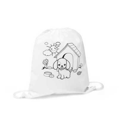 Inmark Brindes - Mochila saco infantil para colorir personalizada