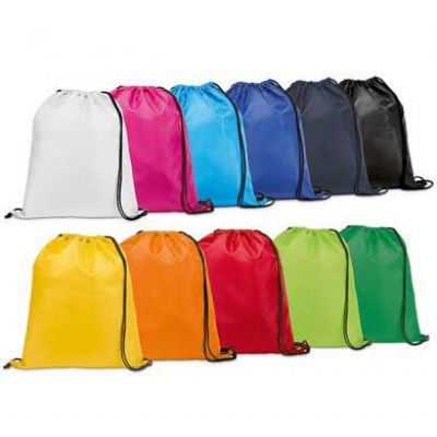 Inmark Brindes - Sacochila padrão Materiais disponíveis : Nylon 210, nylon 70, algodão ou jeans Estampa: silk ou sublimada totalMedida 33 x 43 cm