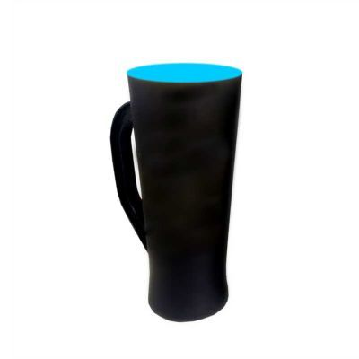 Multimídia News - Taça preto Fosco fundo azul