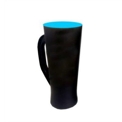 multimidia-news - Taça preto Fosco fundo azul