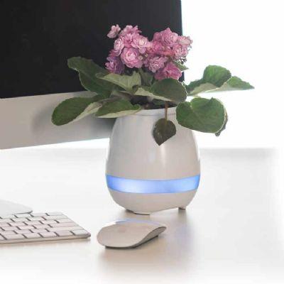 Customiza Brindes - Caixa de Som Vaso com Sensor e Bluetooth