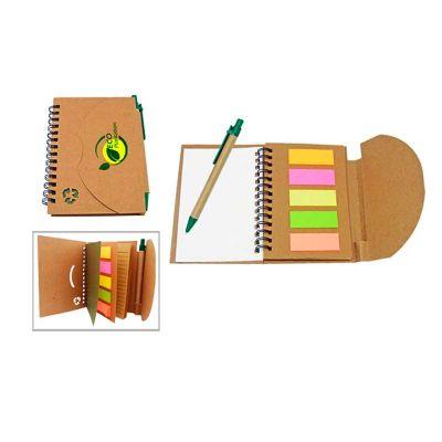 RB Brindes - Kit Bloco ecológico com caneta