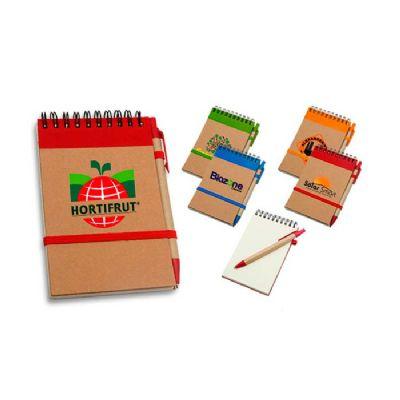 RB Brindes - Kit contendo bloco ecológico personalizado, acompanha caneta ecológica.