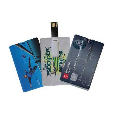 - Pen drive formato cartão, personalizado com gravação digital.