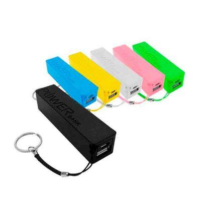 - Carregador portátil - Power Bank - plástico, personalizado com gravação em silk