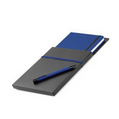 Kit de caderno e caneta esferográfica
