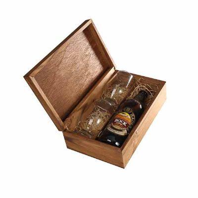 Kit Cerveja com caixa , cerveja Baden Baden mais dois copos de vidro personalizados - Eco Design