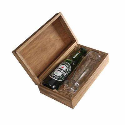 Kit Cerveja com cerveja Heineken 300ml, copo de vidro e caixa