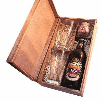 eco-design - Kit Cerveja com caixa, Cerveja Baden Baden, copos e petiscos
